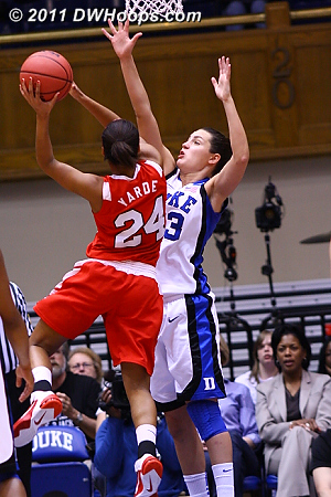 Marist takes an 11-9 lead  - Duke Tags: #33 Haley Peters 24 Corielle Yarde