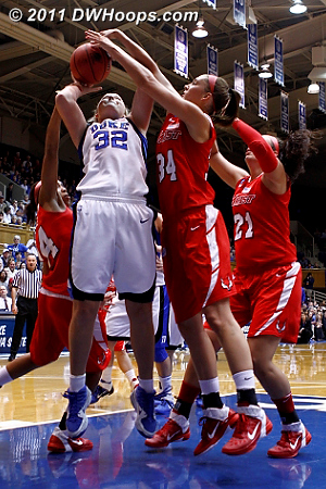 Yarde fouls, but Tricia would miss both  - Duke Tags: #32 Tricia Liston 34 Brandy Gang