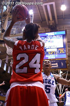 Inbounds play  - Duke Tags: #5 Jasmine Thomas 24 Corielle Yarde
