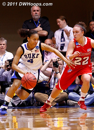 Wells probes the Marist defense  - Duke Tags: #4 Chloe Wells 22 Kristine Best
