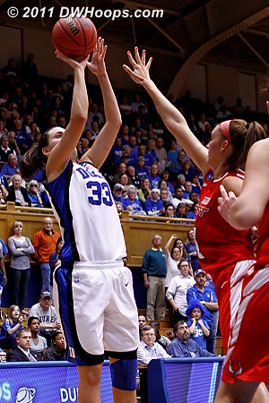 Peters cuts it to seven during a big Duke run  - Duke Tags: #33 Haley Peters