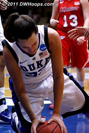 Duke's confidence was perhaps ebbing  - Duke Tags: #33 Haley Peters