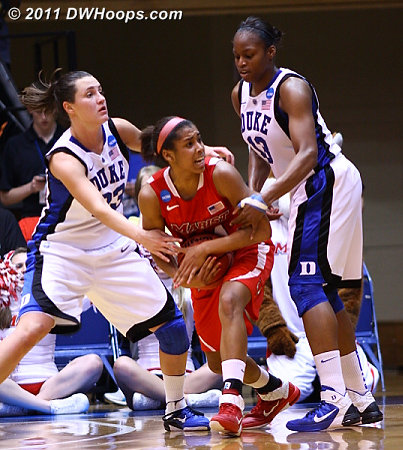 Marist burns a 30  - Duke Tags: #13 Karima Christmas, #33 Haley Peters 24 Corielle Yarde